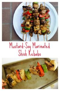 Chicken Shish Kabobs with Mustard-Soy Marinade