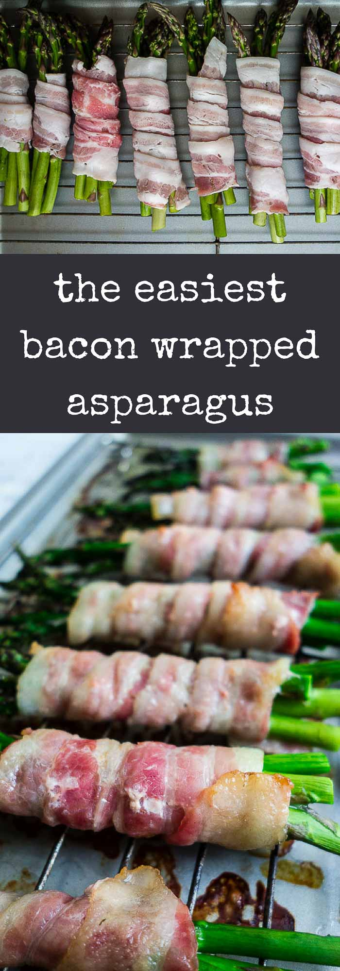 This oven baked Bacon Wrapped Asparagus Recipe is super easy to make right in the oven for perfectly crispy bacon and tender asparagus!crispy bacon wrapped asparagus | party appetizers | game day food | bacon wrapped asparagus bundles | easy bacon wrapped asparagus | bacon appetizers | game day recipes | asparagus recipes | how to cook asparagus | how to wrap vegetables in bacon
