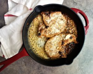 pork chops in creamy shallot sauce