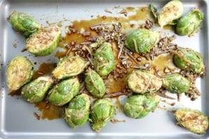 Parmesan and Balsamic Vinegar Roasted Brussels Sprouts