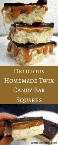 The most amazing Homemade Twix Candy Bar Squares
