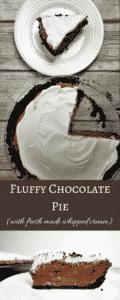 Amazingly Decadent Fluffy Chocolate Pie