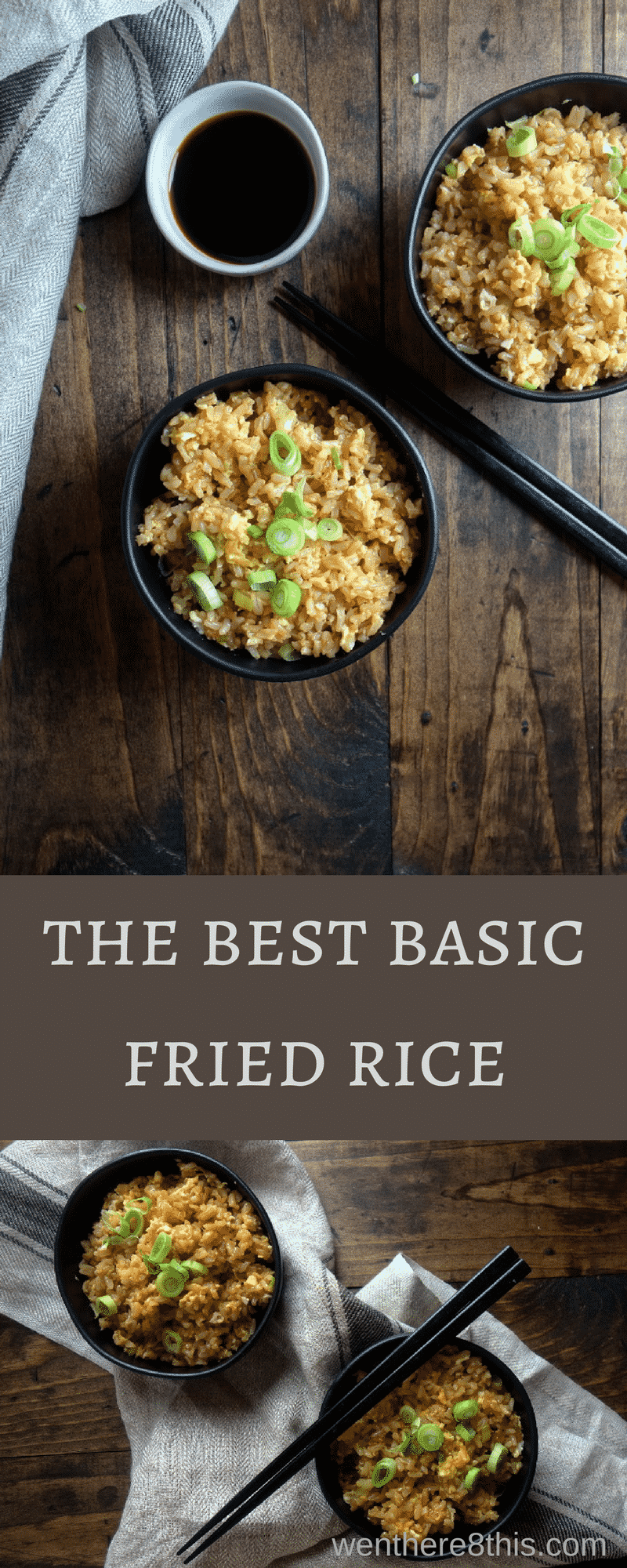 This basic fried rice with Chinese sausage is super easy to make and a perfect staple for all those homemade takeout Chinese dishes! easy fried rice recipe | the best fried rice recipe | 10 minute fried rice | chinese fried rice | fried rice with egg | chinese sausage | better than takeout fried rice | best ever fried rice | easy rice recipes | Chinese takeout recipes | easy chinese fried rice