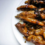 plate of braised chicken feet