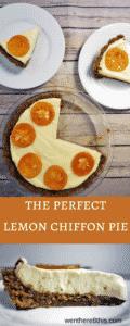 The Best Lemon Chiffon Pie with Gingersnap Crust