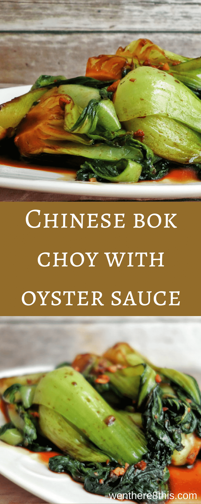 Delicious and Healthy Chinese Stir Fried Bok Choy with Oyster Sauce. Incredibly easy to make and only takes 10 minutes from start to finish!  Stir fry recipes, bok choy recipes, vegetable recipes, bok choy stir fry, stir fry recipes easy, bok choy recipes easy, healthy recipes, 10 minute recipes.