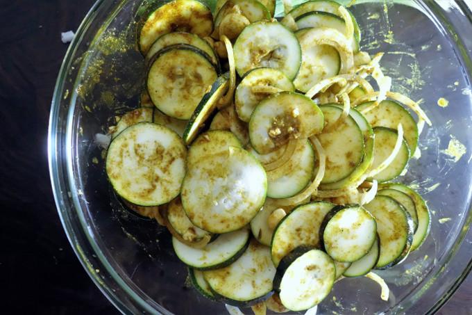 Warm Curried Zucchini and Chickpea Salad - Salad Sunday Series