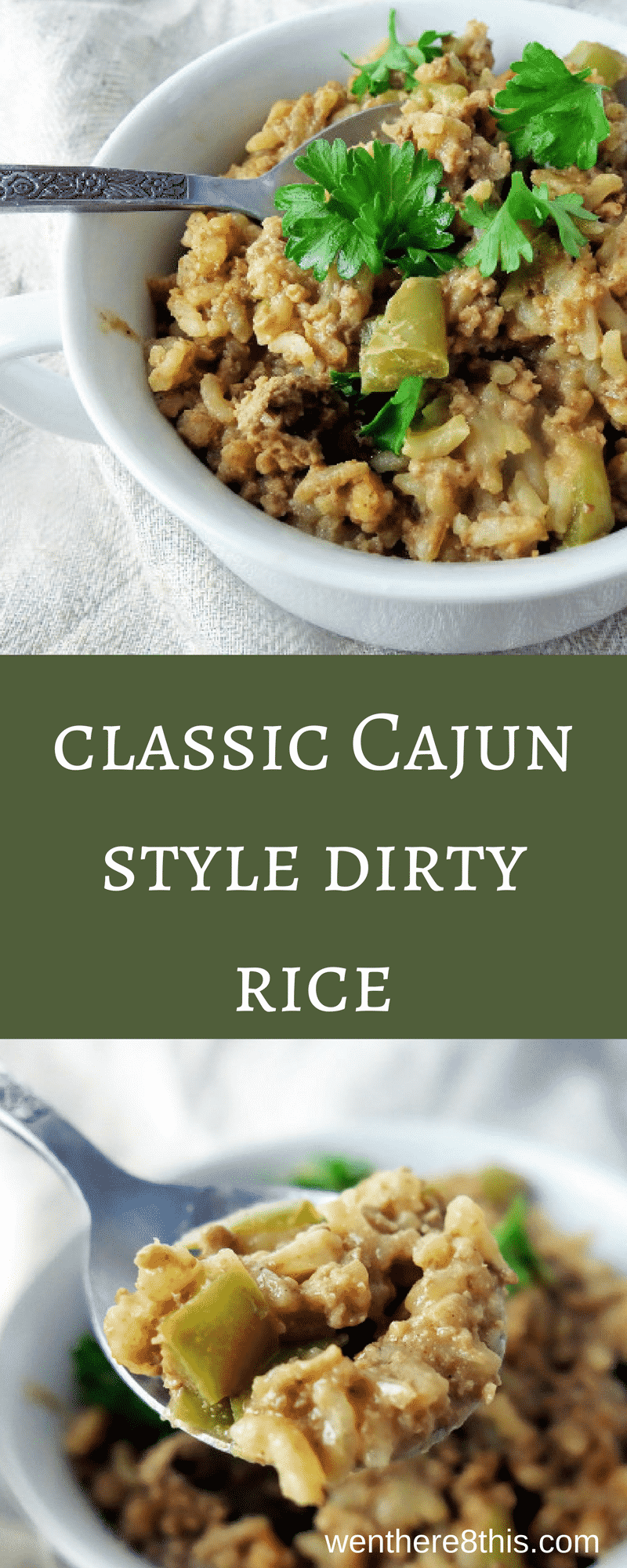 Learn how to make this classic Cajun style dirty rice from scratch - it\'s easy and delicious! Only 30 minutes to make and packed full of rich, spicy flavor!dirty rice recipe | cajun style dirty rice easy | new orleans dirty rice recipe | cajun recipes | easy dirty rice | creole dirty rice | creole recipe | the best easy dirty rice | easy dirty rice recipes