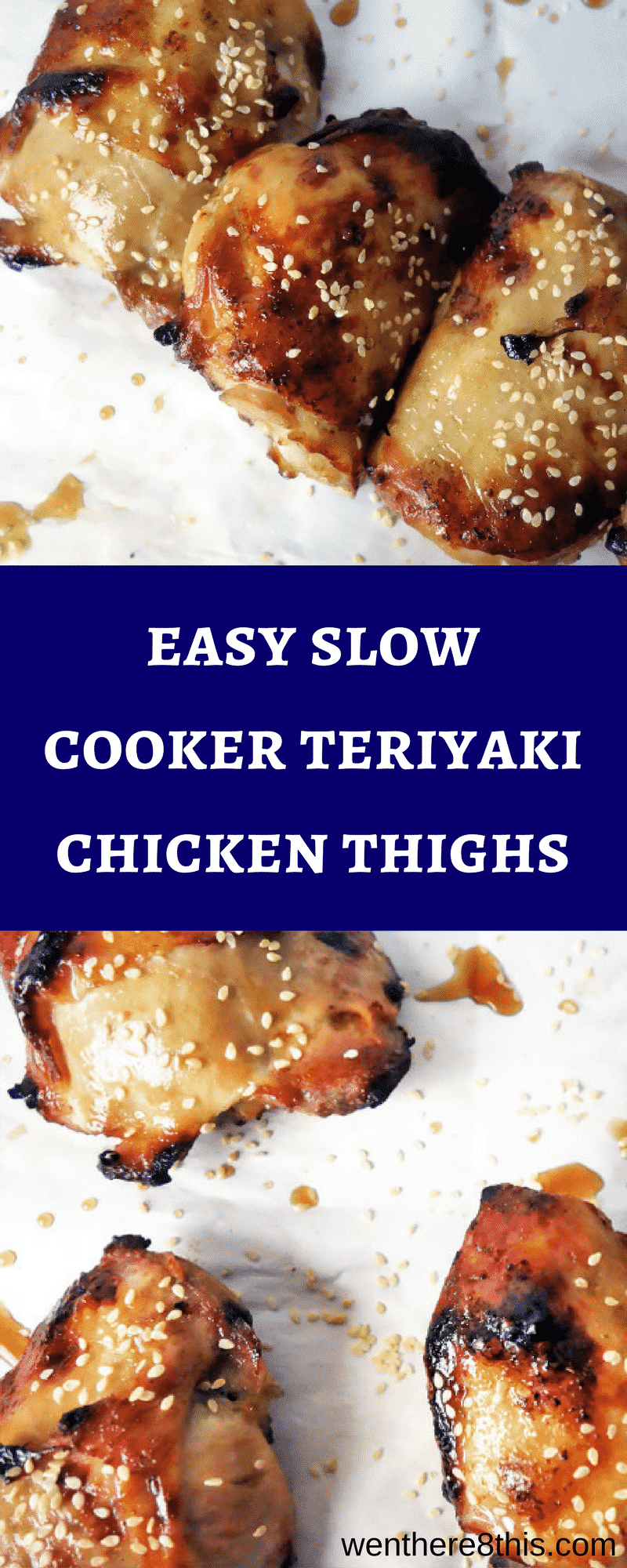 These easy Slow Cooker Teriyaki Chicken Thighs are perfect for weeknight dinner. They are delicious, healthy and packed full of sweet and savory flavors!teriyaki chicken recipes | slow cooker chicken easy | slow cooker teriyaki chicken | easy teriyaki chicken | healthy teriyaki chicken recipe | healthy chicken recipes | healthy recipes | slow cooker recipes | crispy teriyaki chicken easy | easy teriyaki sauce recipe | teriyaki sauce recipe