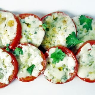 Broiled Blue Cheese Tomatoes: 10 Minutes and 4 Ingredients!