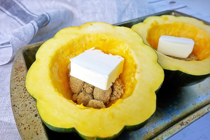 The Best Caramelized Butter and Brown Sugar Roasted Acorn Squash