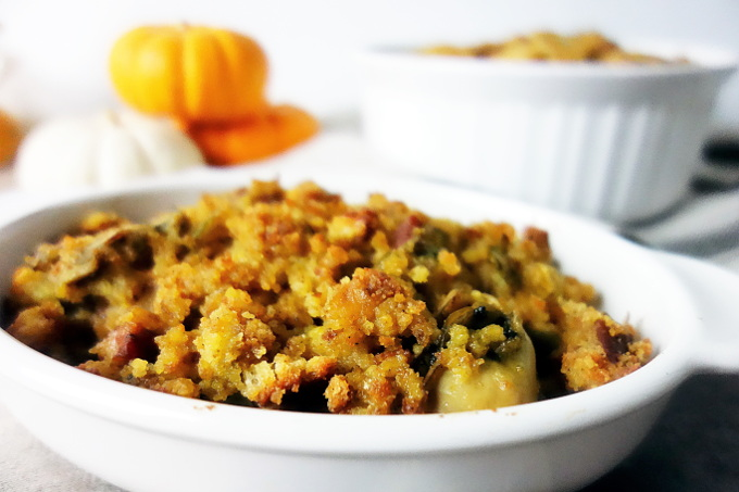 The Most Amazing Oyster and Andouille Sausage Stuffing