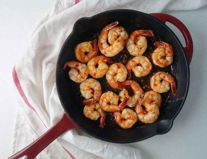Chili and Maple Syrup Glazed Shrimp