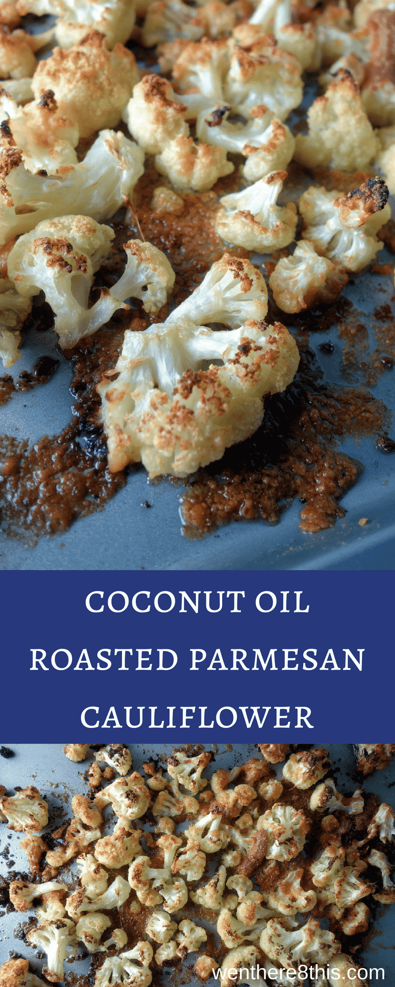 This coconut oil roasted parmesan cauliflower is easy to make and delicious, roasted with coconut and parmesan cheese for perfectly crisp caramelized edges.parmesan roasted cauliflower | healthy roasted cauliflower | easy roasted cauliflower | coconut oil recipes | keto cauliflower bites | low carb cauliflower bites | coconut oil roasted vegetables | paleo cauliflower