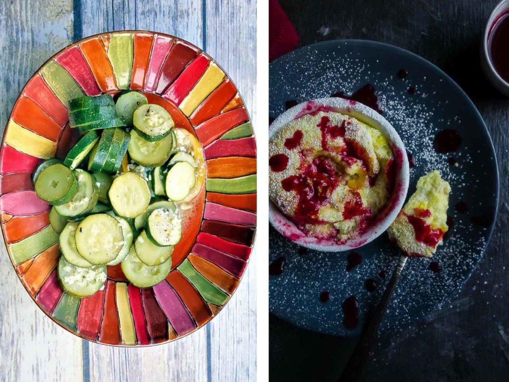 food photography side by side comparison