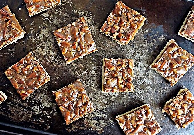 gooey pecan pie bar recipe
