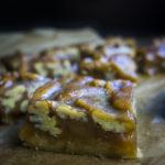 side view of pecan pie bars