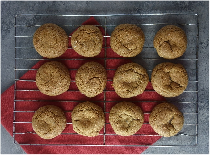 Soft and Chewy Gingerbread Molasses Cookies