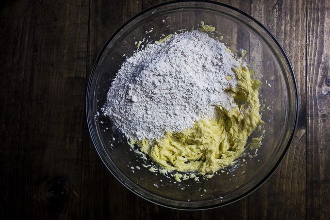 white chocolate sugar cookie dough ingredients
