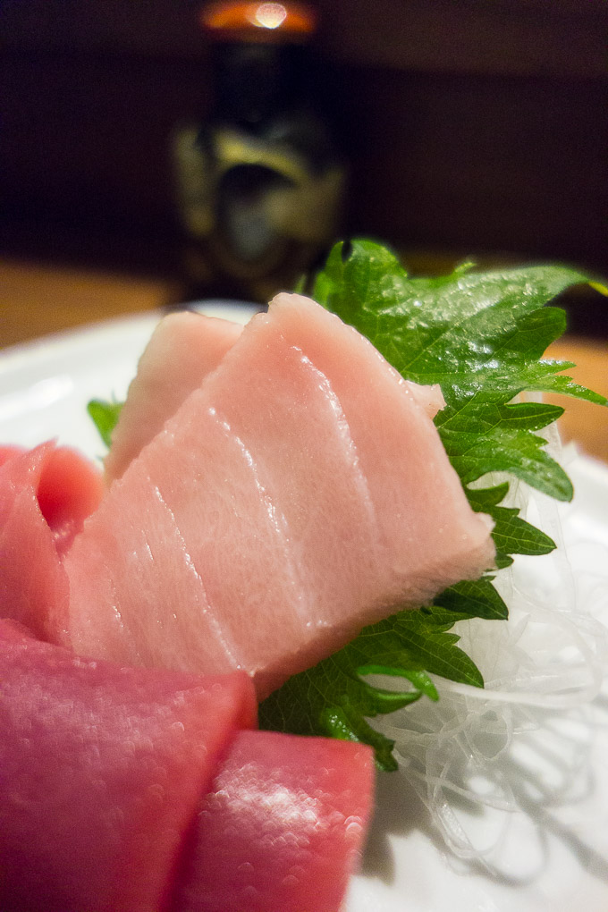 best sushi in san diego o toro sashimi with chopped toro