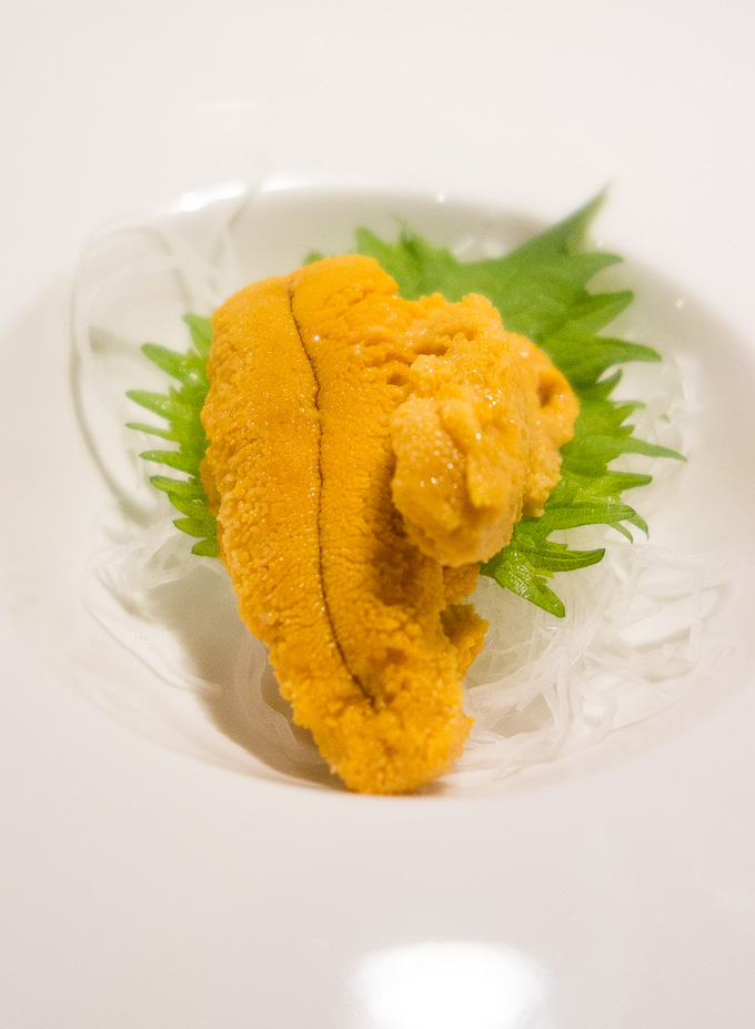 best sushi in san diego, photo of sea urchin roe (uni)