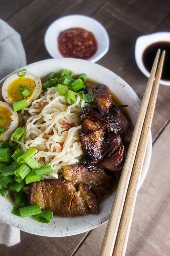 Crispy Instant Pot Caramelized Pork Ramen - Went Here 8 This