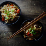 Crispy Pork Belly Yakisoba Noodles