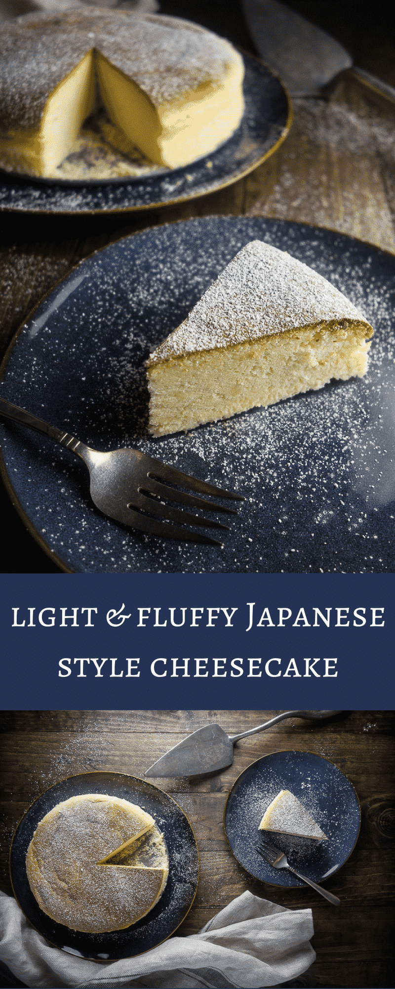 This light & fluffy Japanese style cheesecake (or soufflé cheesecake) will totally melt in your mouth - perfect for that cheesecake lover in your life! japanese cheesecake recipe | soft fluffy Japanese cheesecake | Japanese desserts | Japanese recipes | soufflé cheesecake | airy Japanese cheesecake | Japanese cotton cheesecake | creamy Japanese cheesecake | best cheesecake
