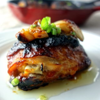 Roasted Miso Butter Chicken Thighs
