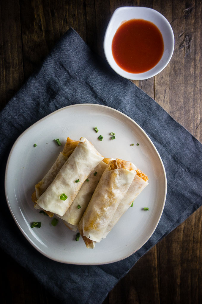 egg rolls with hot sauce, cajun crawfish egg rolls