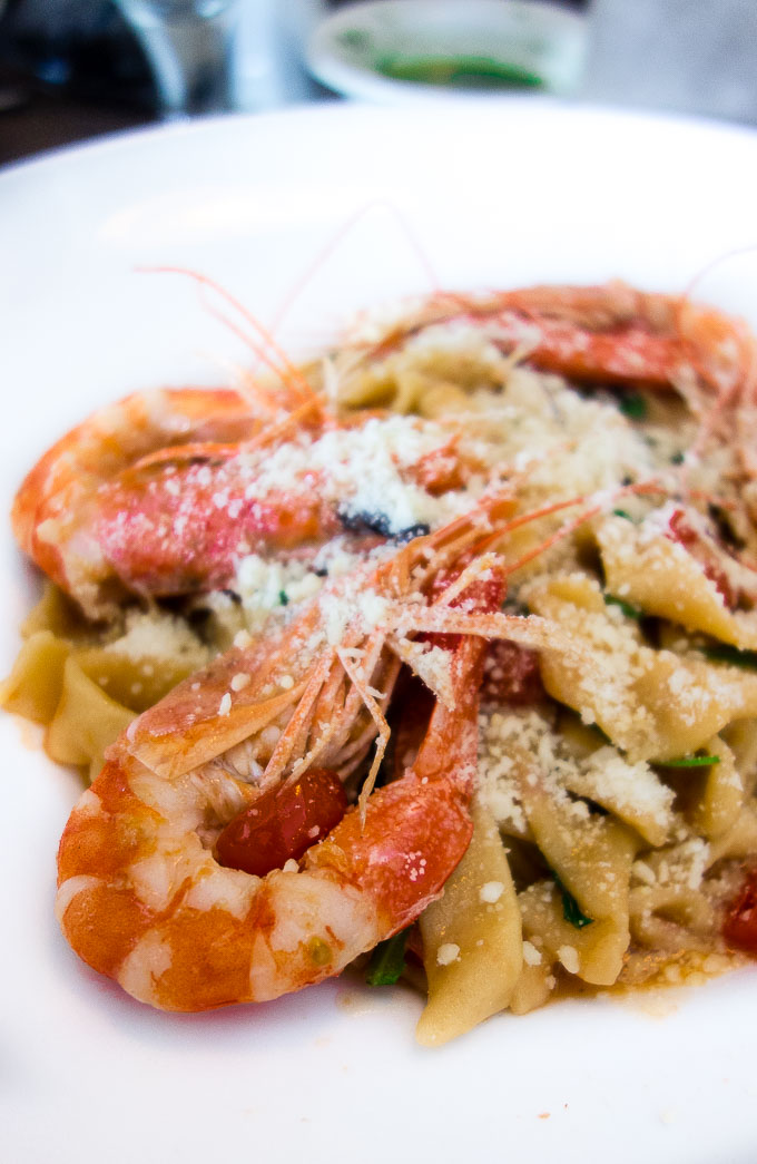 pasta with shrimp and herbs, civico1845