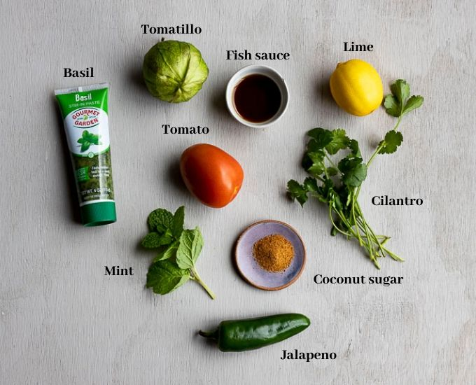 ingredients for green salsa