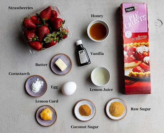 ingredients for strawberry galette