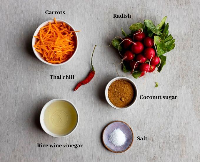 ingredients for pickled vegetables