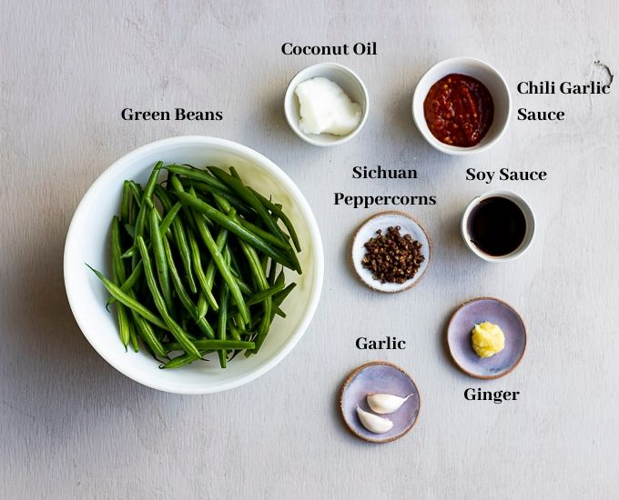 ingredients for sichuan green beans