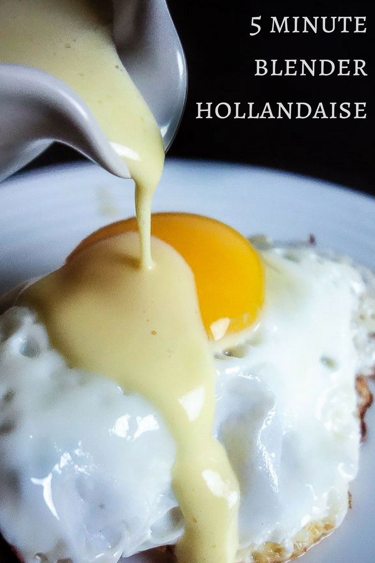 This 5 minute blender hollandaise sauce is literally so easy you\'ll wonder why you don\'t make hollandaise every weekend. Or every day! Delicious served on eggs benedict, over roasted asparagus, drizzled over that perfectly seared steak...the list goes on!blender hollandaise | julia child | 1 minute hollandaise | 5 minute hollandaise | easy hollandaise | the best blender hollandaise | egg benedict | immersion blender hollandaise | classic hollandaise | bacon hollandaise | spicy hollandais...