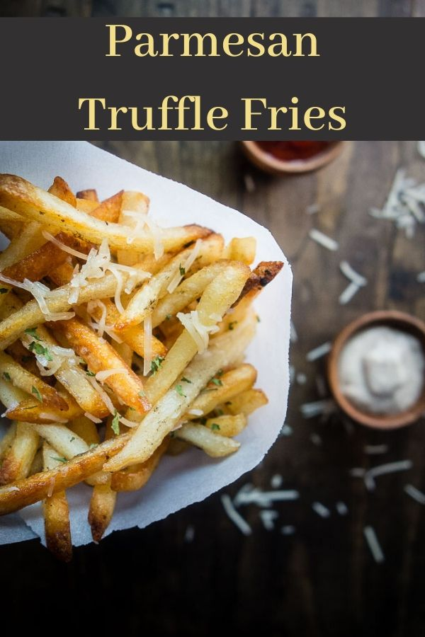Duck Fat Parmesan Truffle Fries with Truffle Mayonnaise