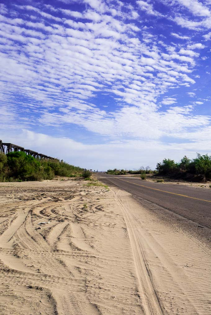 a sandy river bed, a roadtrip from san diego to tucson