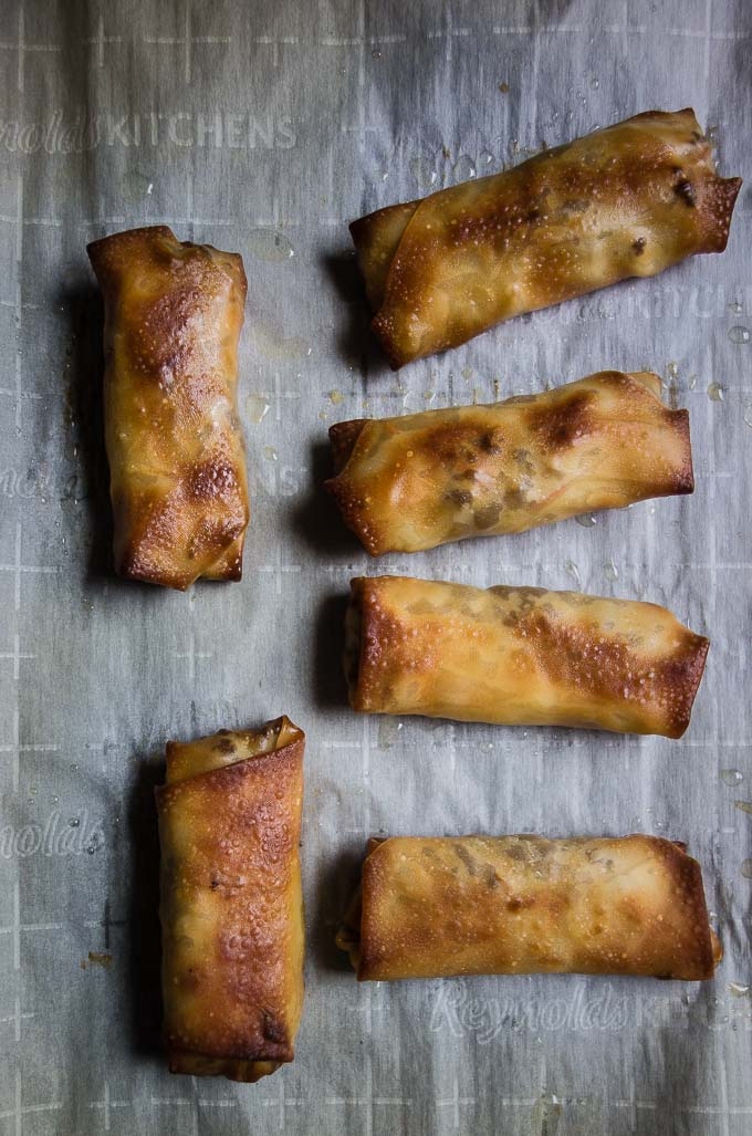 How to Make Baked Korean Beef Egg Rolls - Went Here 8 This