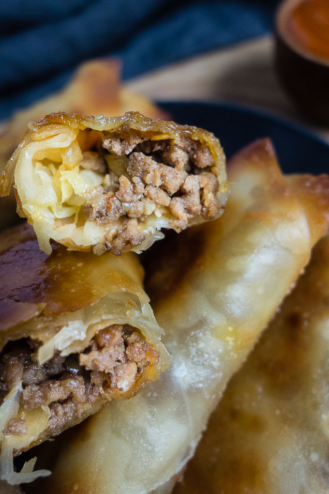 Korean Beef Egg Rolls