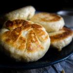 closeup of sweet korean pancakes