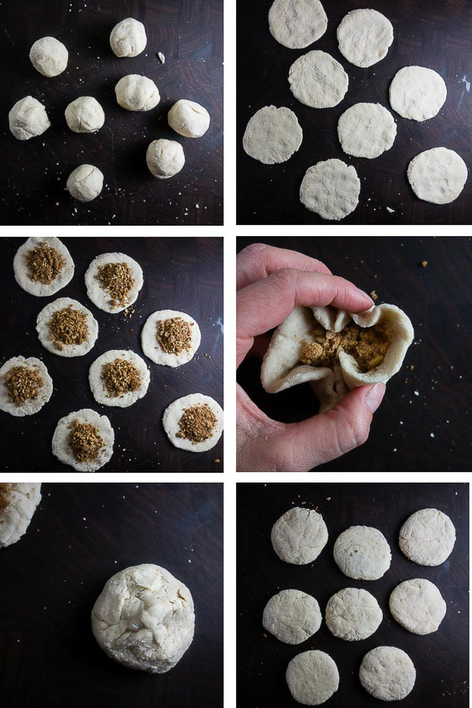 how to stuff sweet korean pancakes, step by step