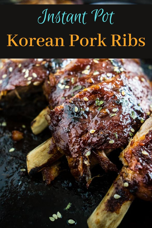 Instant Pot Korean Pork Ribs
