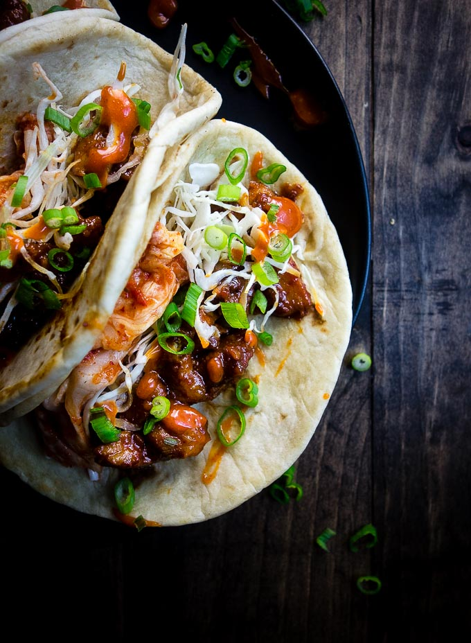 pork tacos with spicy mayonnaise