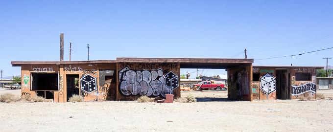 artwork, painter ruined building