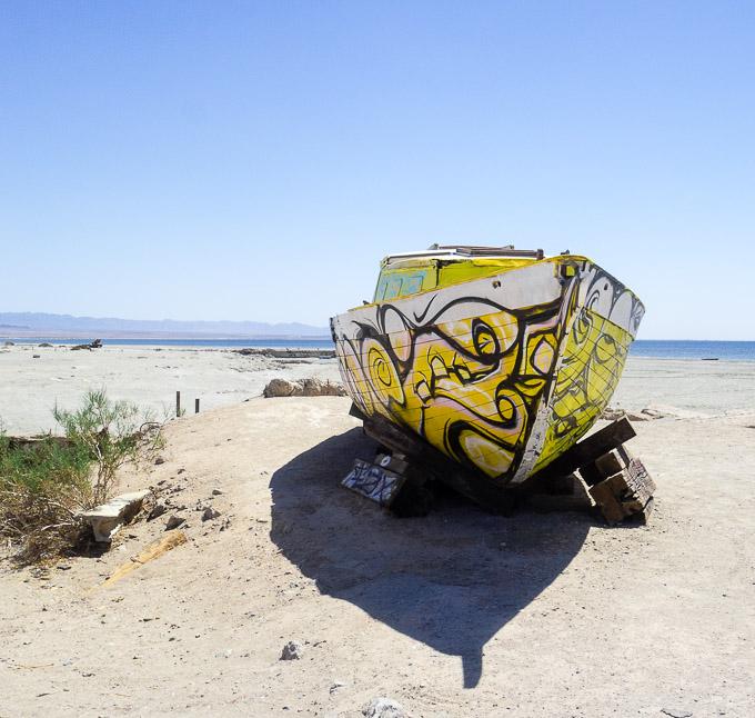 painted boat, artwork