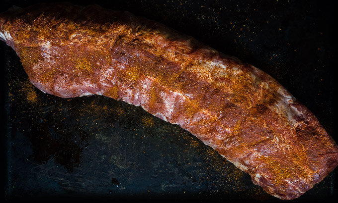ribs with rub on them