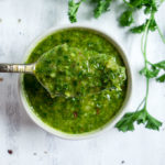 spoonful of 5 minute chimichurri sauce