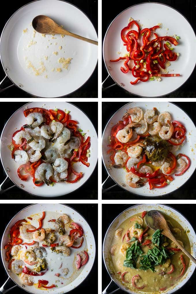 step by step instructions to make thai green curry