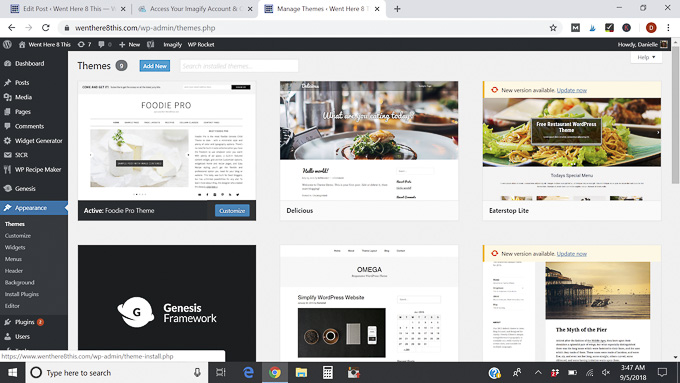 choose a theme - how to start a food blog and make money
